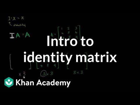 identity matrix  matrices  precalculus  khan academy