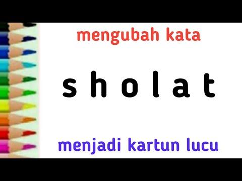 Cara Menggambar Orang Sholat Dari Kata Sholat Untuk Anak Youtube