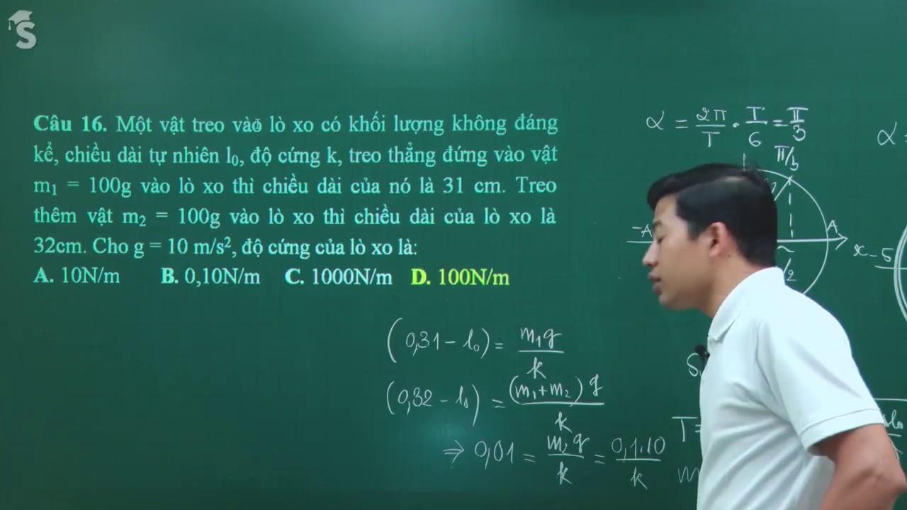 Kiểm tra 1 tiết giữa học kỳ I vật lý 12 – Thầy Phạm Quốc Toản