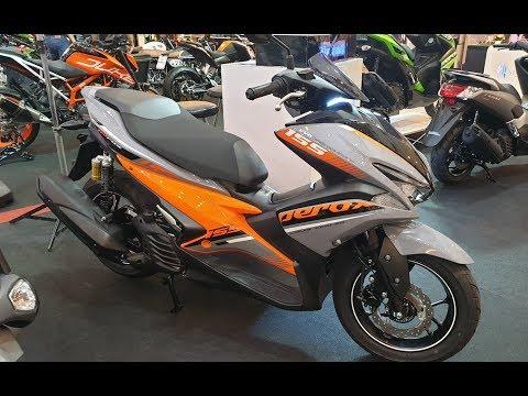 2019 Yamaha Aerox 155   R Version   Gray / Orange   - PakVim