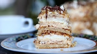Homemade Meringue Cake Napoleon Наполеон Mille Feuille Recipe - Heghineh.com