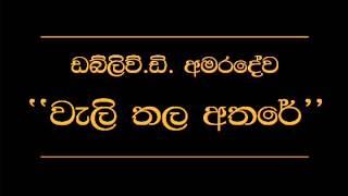 Wali Thala Athare   W D  Amaradewa