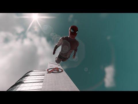 Marvels Spider-Man PS4 Lanzándonos en ROPA INTERIOR desde lo alto de la Torre de los Vengadores