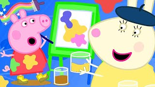 Peppa Pig Full Episodes | Peppa Paints Using Colourful Mud | Kids Video