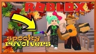 "Roblox Wild Revolvers ""Spooky"" Halloween Update NEW Minigames Rotation Rainbow Skin SallyGreenGamer"