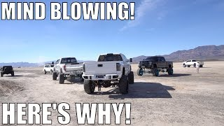 MILLIONS OF DOLLARS OF TRUCK IN THE DESERT!
