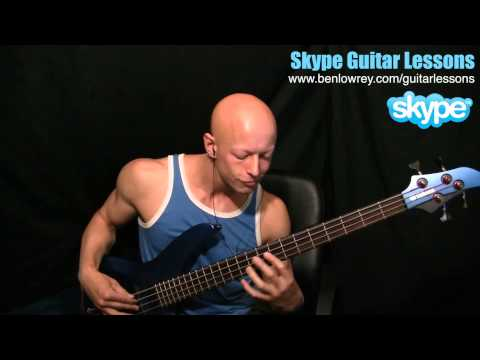 How To Play Chris Brown - Fine China On Bass Guitar - Www.benlowrey.com/guitarlessons