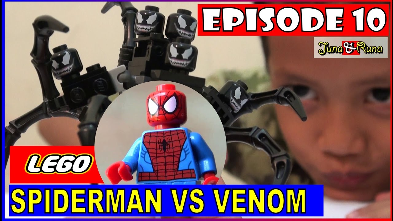 unboxing lego spiderman vs venom symbiote super heroes