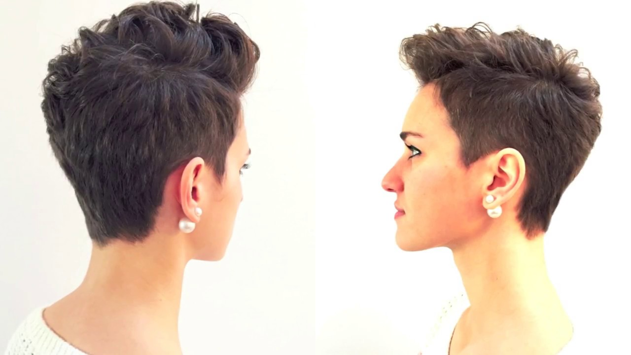 pixie haircut, short hairstyle 2017, GBHDESIGN - YouTube