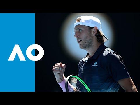 Milos Raonic v Lucas Pouille first set highlights (QF)   Australian Open 2019