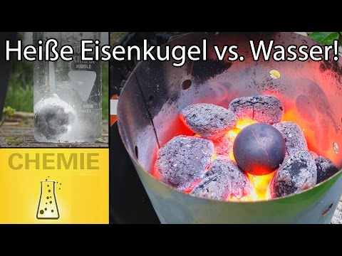 Heiße Eisenkugel (900°C) In Kaltes Wasser - Leidenfrost-Effekt
