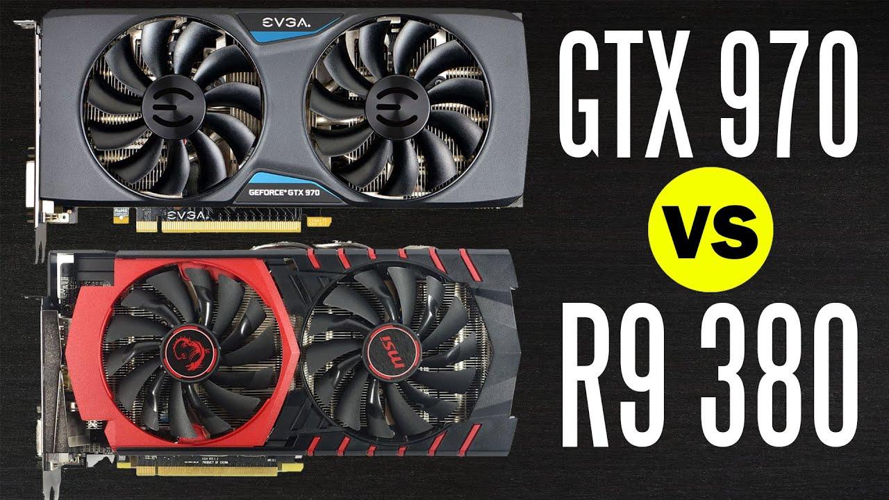 MSI R9 380 vs EVGA GTX 970 - Graphics Card Comparison