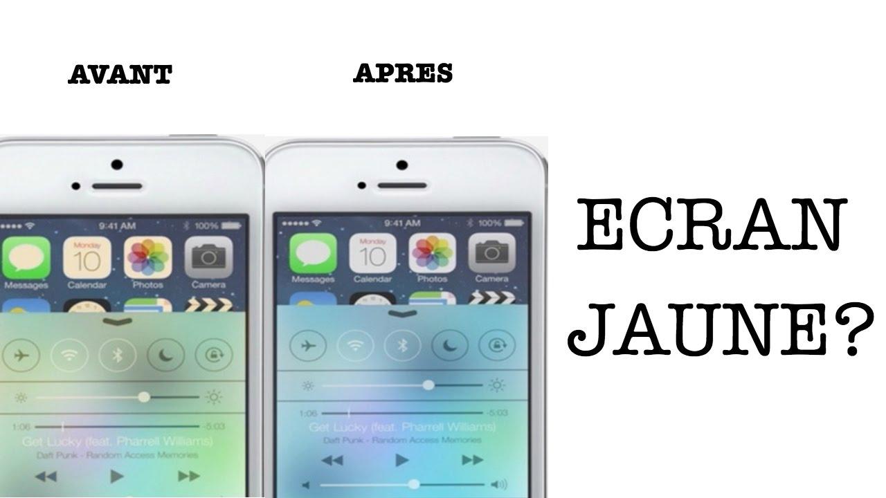 Ecran Jaune Sur Iphone 7 La Solution