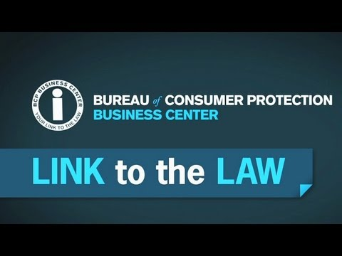 The Business Center Is Your Link to the Law | Federal Trade Commission
