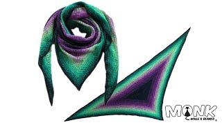 Dreieckstuch Häkeln Muschelmuster