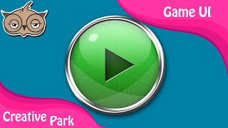 Game UI - Creating Shiny, Reflective and Glossy Buttons In Photoshop Part 02