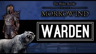 the warden new class showcase morrowind eso