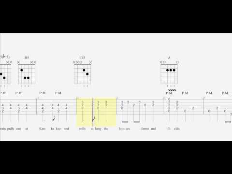 Guitar Tab - City of New Orleans - Arlo Guthrie - Chords