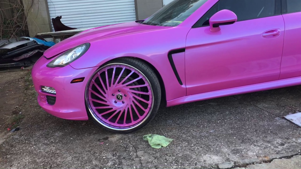 Outrageous Miami Pink Porsche Panamera On 26 Forgiatos