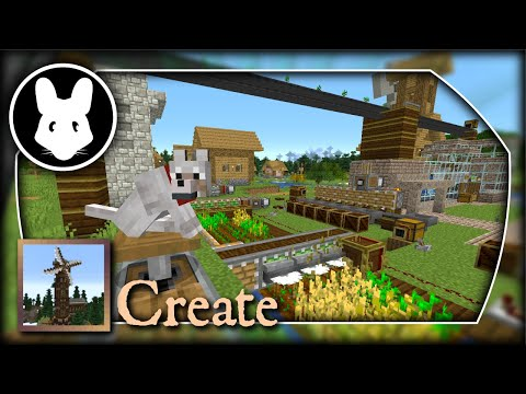 Create: Autofarm, Remote Redstone, & Belt Logistics! Bit-by-Bit By Mischief Of Mice!