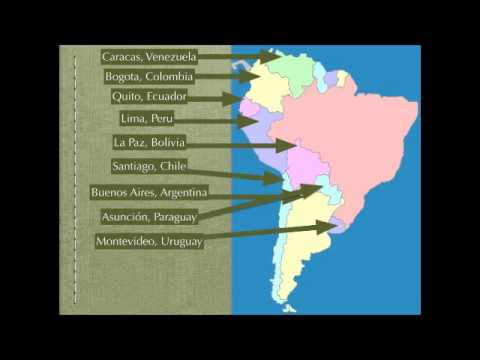 South America Map Rap (Spanish Speaking Countries and Capitals ...