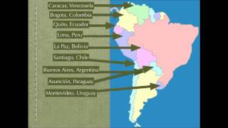 South America Map Rap (Spanish Speaking Countries and Capitals)