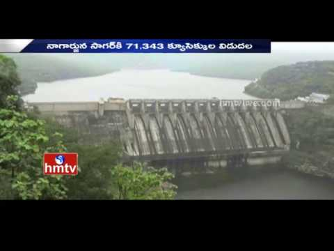 Water Level Increased In Srisailam Dam Due To Heavy Rains | HMTV