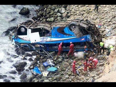 Peru bus crash at 'devil's curve' kills 48