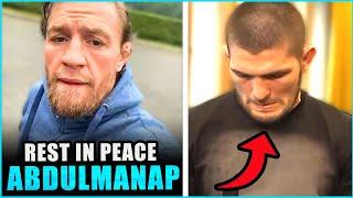 Conor McGregor sends a personal message to Khabib's family after the passing of Abdulmanap
