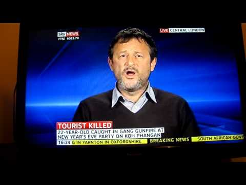 Sky News 02/01/2012 talking about travel safety in Thailand.