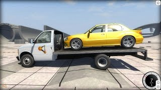 BeamNG Drive Experimental Branch - Trying to Transport a Car With the Flatbed Van thumbnail