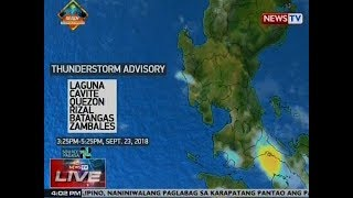 NTVL: Weather update as of 4:02 p.m. (Sept. 23, 2018)