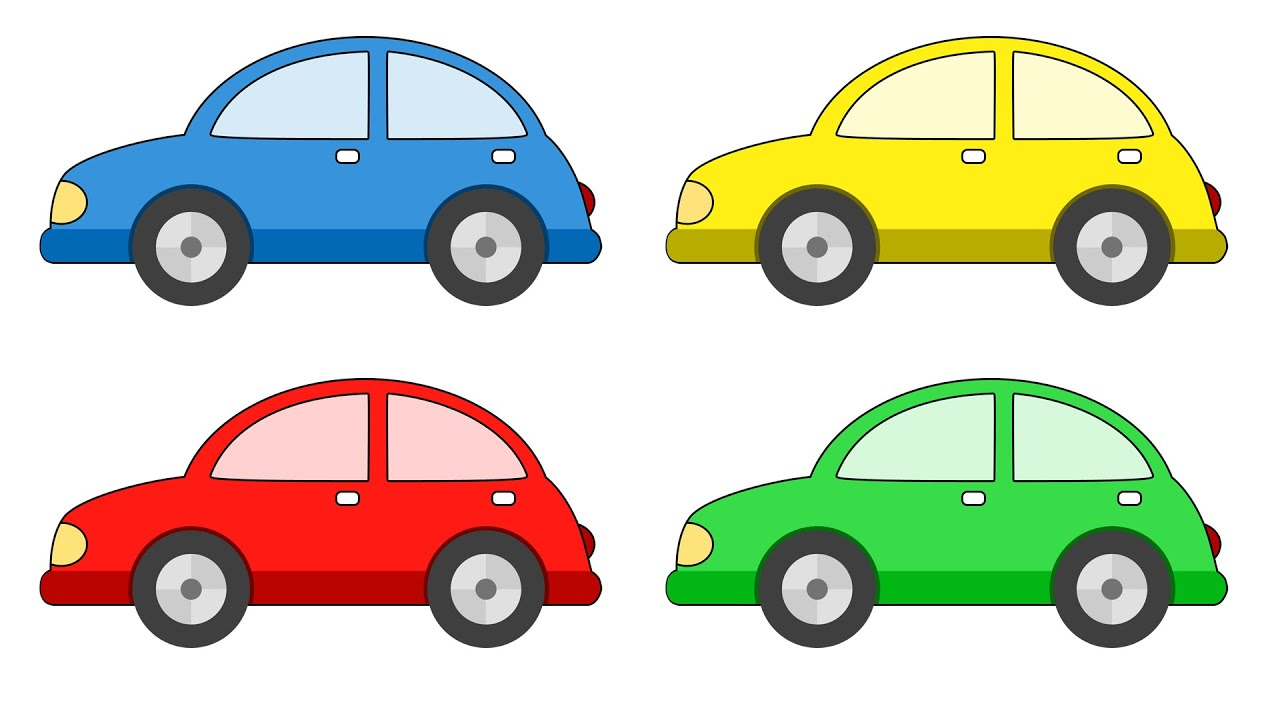 learn colors with car painting education for kids