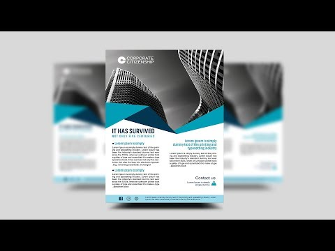 Creative corporate business flyer - Photoshop Tutorial