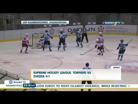 Supreme Hockey League. Torpedo 4:1 Zvezda - Kazakh TV