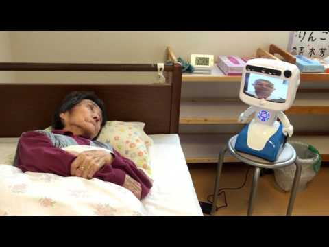 """Dinsow"" Elderly care robot in japan"