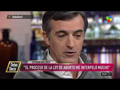 Esteban Bullrich sostuvo su postura en contra del aborto