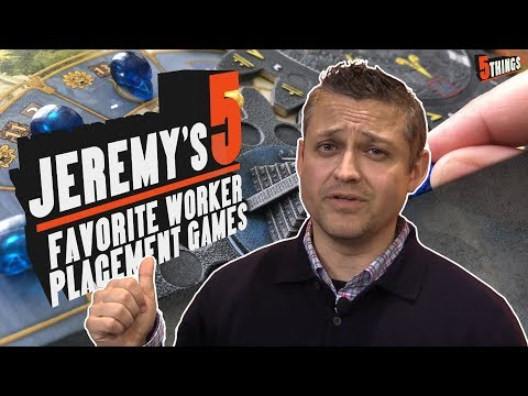 5 Things - Jeremy's Top 5 Best Worker Placement Games
