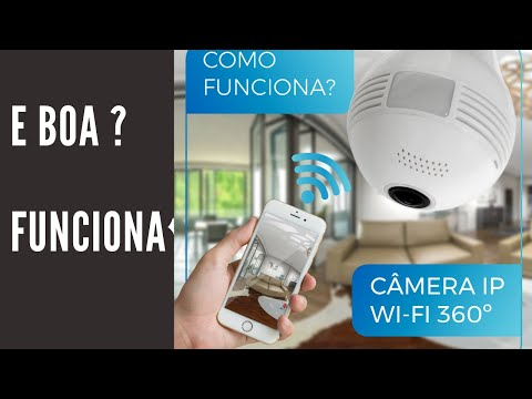 Lâmpada IP Wifi oculta micro câmera espia sem fio spy cam lamp 360