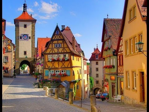 Rothenburg ob der Tauber Germany  4K Video -Best of Europe