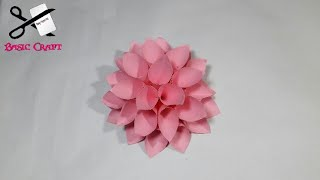 DIY- Giant Paper Flower | Paper Dahlia Flower Tutorial | Wall Decor Idea