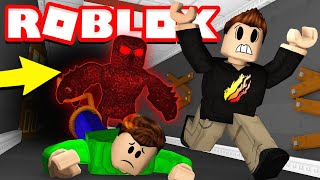 CAN MY 12 YEAR OLD LITTLE BROTHER ESCAPE THE BEAST?! (Roblox Flee The Facility)