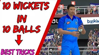 Real Cricket 18 !! 10 Wickets in 10 Balls in Real Cricket 18 Bowling Tips & Tricks RC 18
