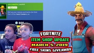 FORTNITE ITEM SHOP UPDATE MARCH 5, 2019 - *NEW* HAYSEED, SUNFLOWER , HAYSTACKS, CASTOR