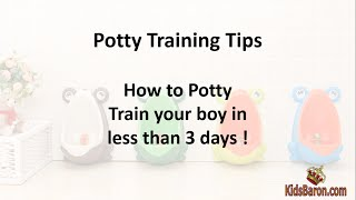 Potty Training Tips for Boys - 3 Day Strategy