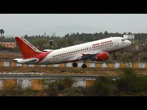 Air India Airbus A319 Departs Madurai For Chennai (VT-SCW)