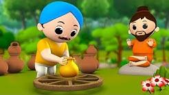 The Golden Pot Hindi Story - 3D Animated Moral Stories सोने का मटका हिन्दी कहानी Kids Fairy Tales