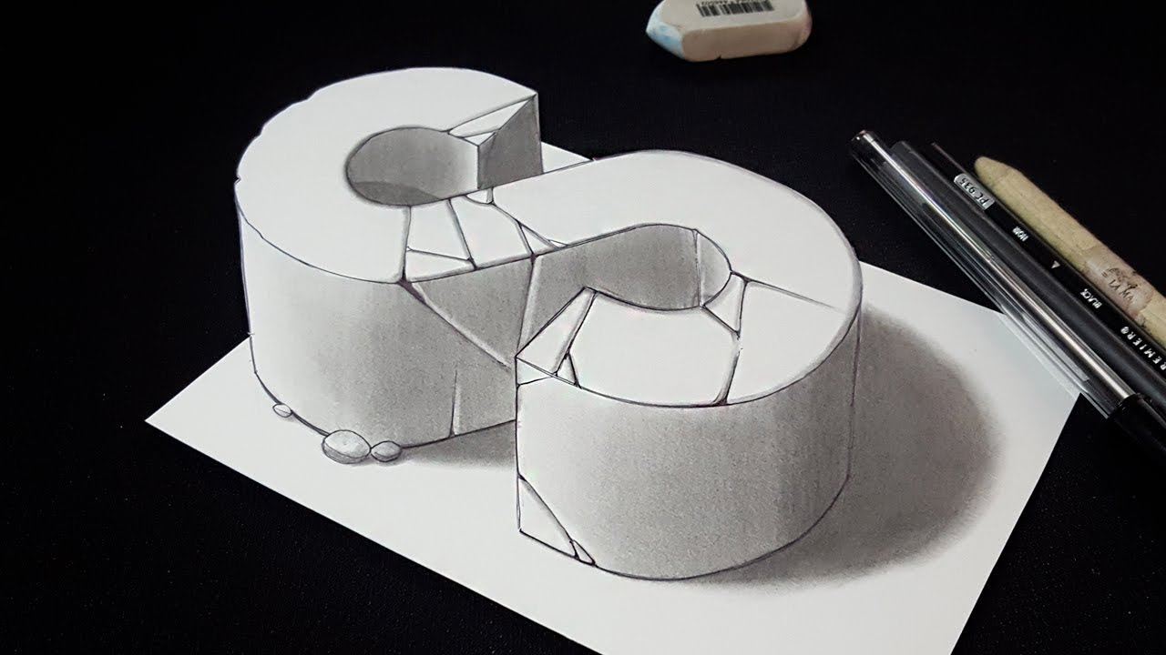 How to Draw 3D Letter S - 3D Drawing - Easy Trick Art - YouTube