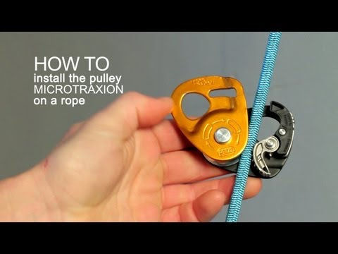 How to install the MICROTRAXION on the rope