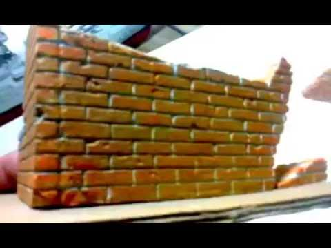 ffb5435f14d muros para maqueta o diorama - YouTube